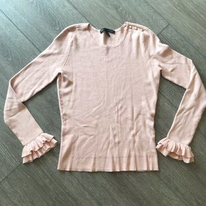 White House black market sweater pink small